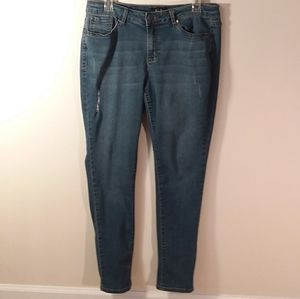 I157, EARL, Size 14, ankle cuff Blue jeans
